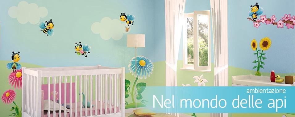 Decori cameretta neonato camerette per bimbi economiche for Decorazioni per camerette